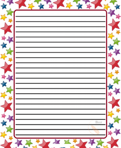Star Lined Paper Template