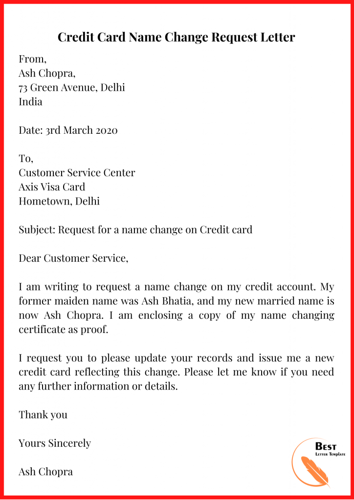 Address Change Request Letter from bestlettertemplate.com