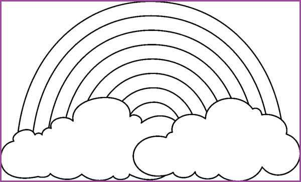 Free Printable Blank Rainbow Rainbow Coloring Page Templates