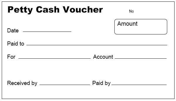 Petty Cash Voucher Template