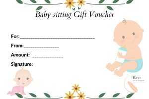 Babysitting Gift Voucher
