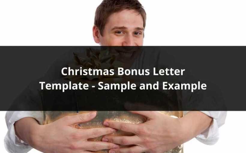 Christmas Bonus Letter Template - Sample and Example
